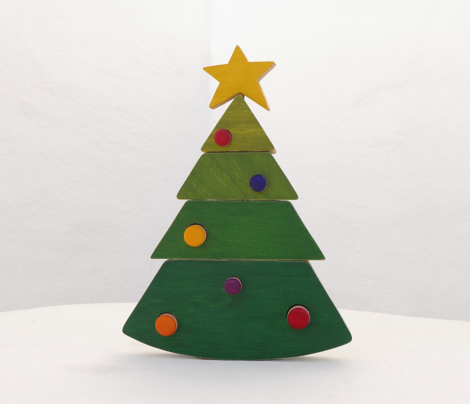 Christmas Tree With Toys : Christmas toy tree stacking wooden