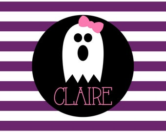 Personalized Placemat - 12x18 laminated placemat hallowen ghost