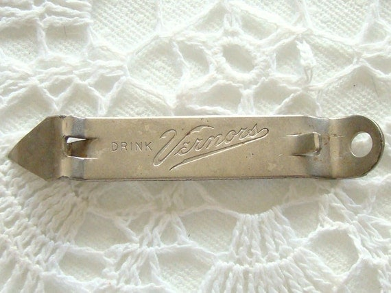 Vintage Vernors Church Key Can Opener Cap Lifter Bottle