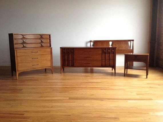 Mid century modern kent coffey perspecta bedroom set - Midcentury modern bedroom furniture ...