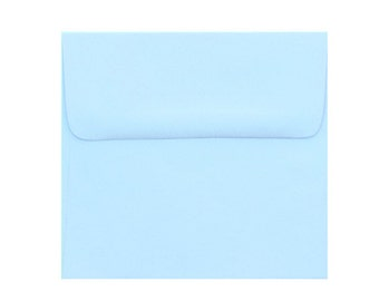 25 5.5 x 5.5 Pastel Blue Envelopes - 5 1/2 x 5 1/2 for 5x5 cards and announcement