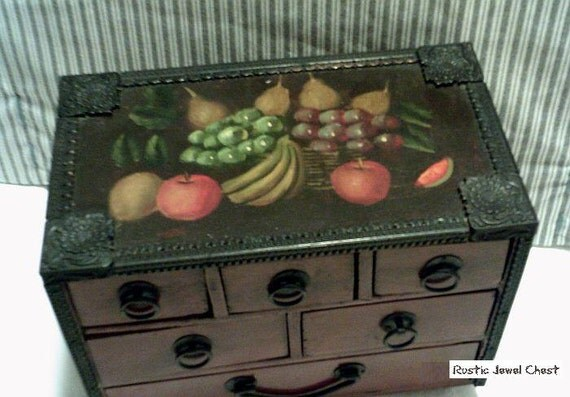 Rustic Spanish style jewelry chest