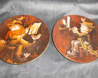 Vintage 1981 Juan Ferrandiz Collectabel Decorative plates set of 2
