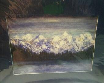 Alaskan Mountain Range - Prints and Notecards