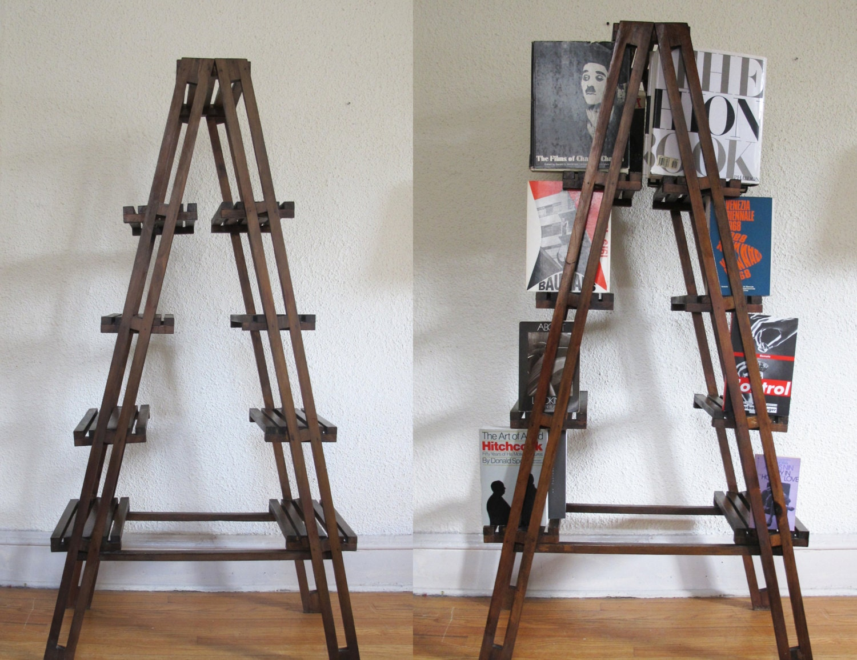 Century Modern Scandinavian Design Style Ladder Book shelf Plant Stand ...
