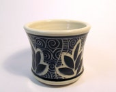 Hand-Carved Stoneware Rocks Cup
