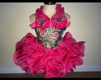 Mossy oak high glitz pageant dress