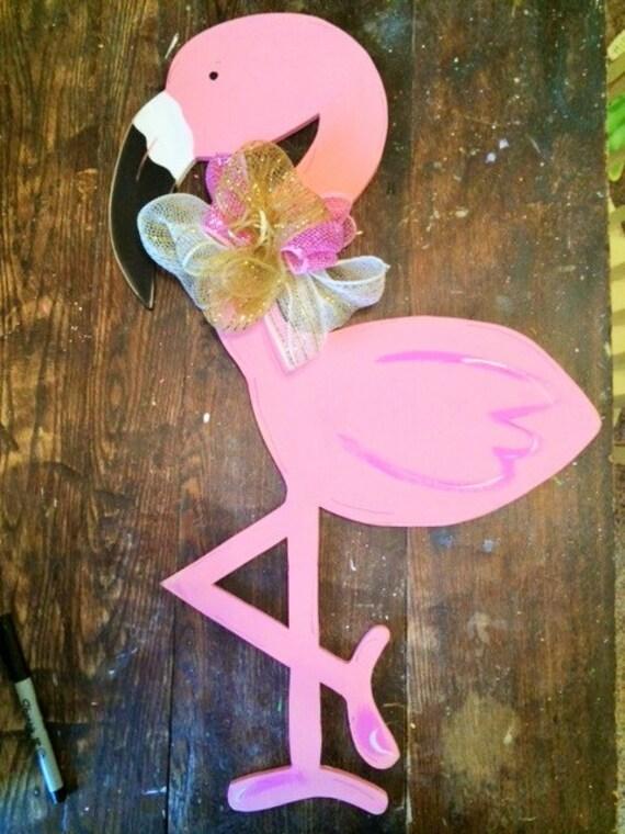 Items Similar To Flamingo Door Hanger Summer Door Hanger