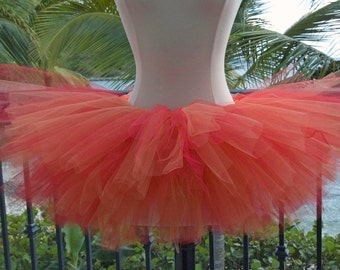 Adult Tutu - Orange and Red