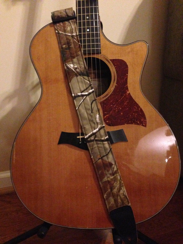 guitar strap handmade real tree camo. Black Bedroom Furniture Sets. Home Design Ideas