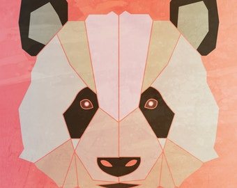 PANDA  Limited Edition Print  A4 (8.5 X 11) with border
