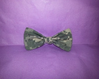Army Camo Hair Bow