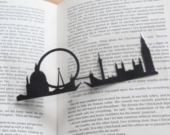 London skyline, England, Westminster,London eye, Tower Bridge, laminate papercut Bookmark