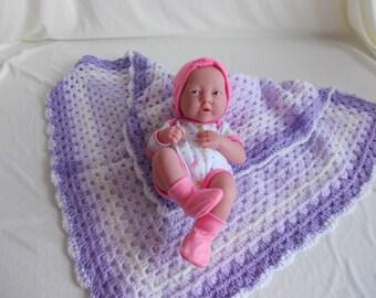 Hand crochet baby blanket,lap blanket, picnic,stroller,pram,carseat