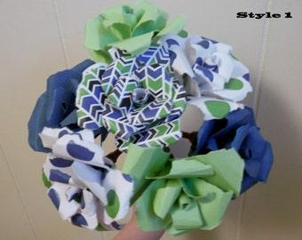 Seahawks Paper Bouquet