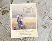 """Wedding Save The Date Magnets - HeathrowPark Rustic Photo Personalized 4.25""""x5.5"""""""