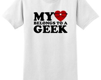 My Heart Belongs To A Geek  T-Shirt 2000-OC-92