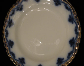 W.H. Grindley & Co. Flow Blue cake plate
