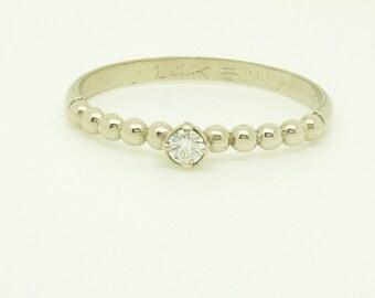 Diamond Engagement Ring, Diamond ring,14 karat ring, white gold ring,Recycled gold, Wedding Band, Gold