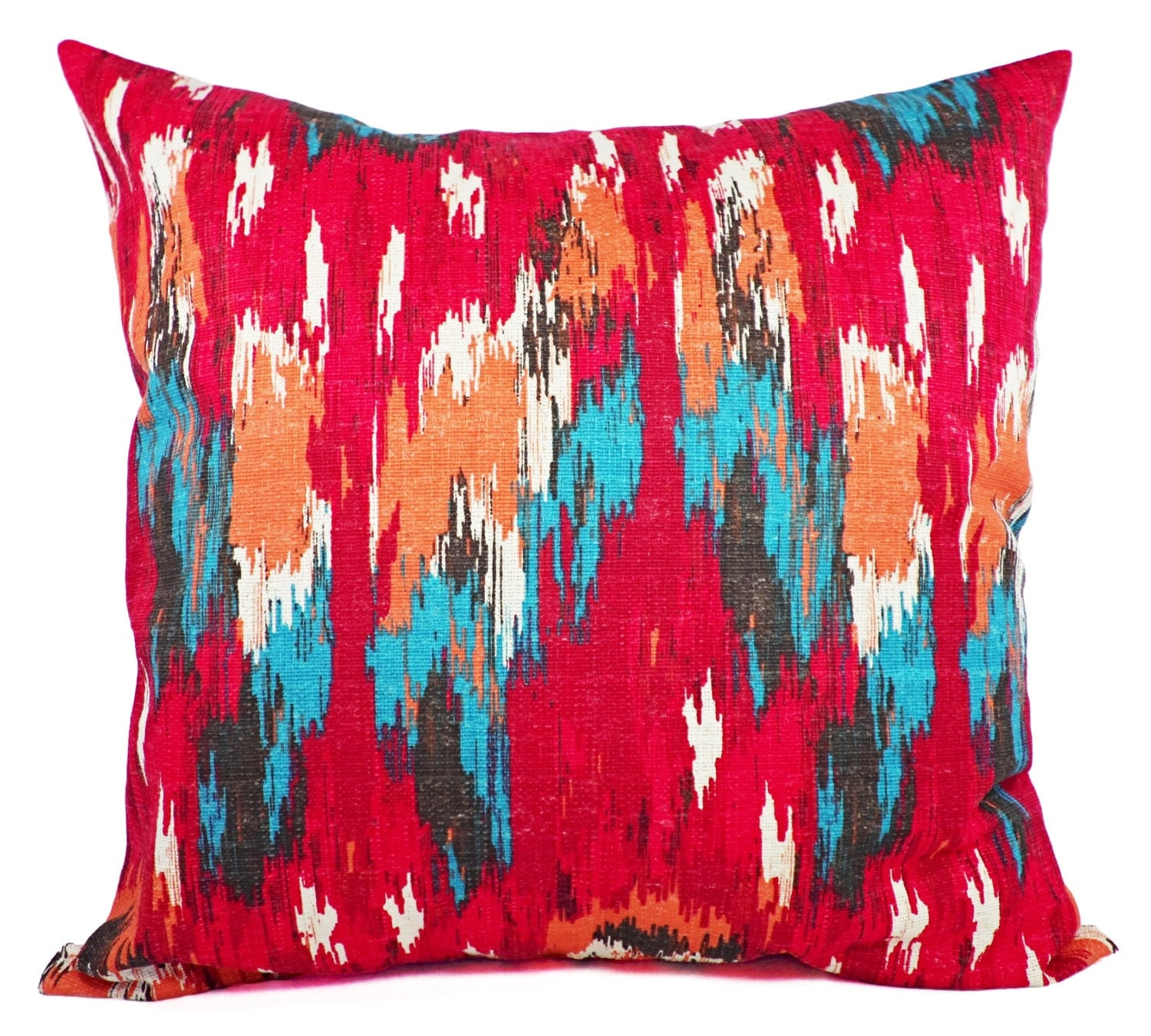 CLEARANCE Red Pillow Covers One Red and Blue Pillow Cover