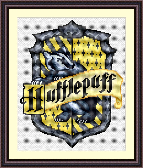 Pdf Cross Stitch Pattern For The Hufflepuff By