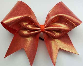 Orange cheer bow.Ask about bulk discounts, color and mascot options.