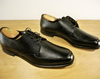 New Old Stock Vintage Made in USA Black Leather Men's Swinger Dress Professional Shoes Oxfords Size 9.5