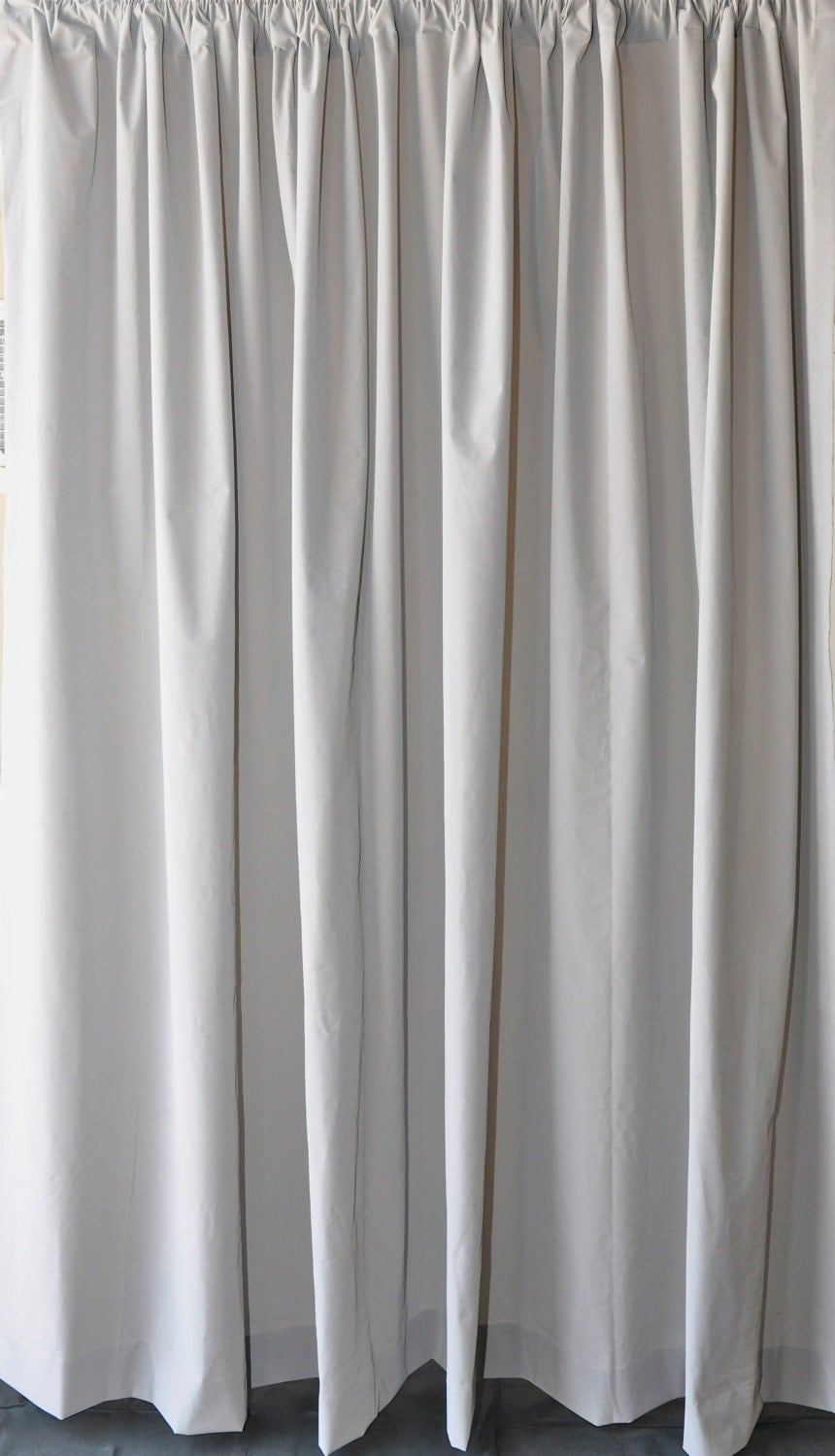 solid gray velvet fabric curtain 96 inch high long panel. Black Bedroom Furniture Sets. Home Design Ideas