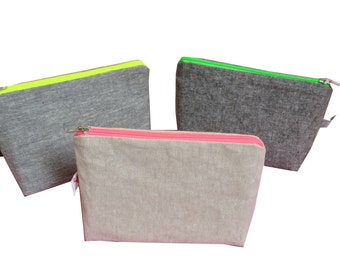 Neon pouch pink, green, yellow