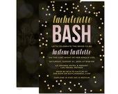 Gold & Pink Confetti Bachelorette Bash Invitations - Printed Bachelorette Party Invitations - Printable Bachelorette Party Invitations