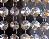 Silver Glass Crystal Strands with Silver Connectors Glass Crystal Garlands Hanging Crystal Strands Wholesale Crystals Bulk Lamp Beads