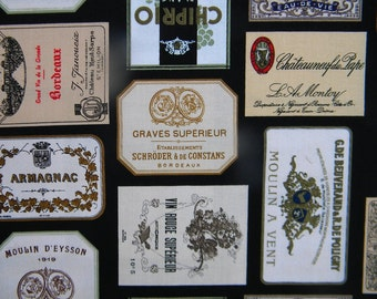 Italian Vineyards label fabric by the yard Elizabeth's Studio