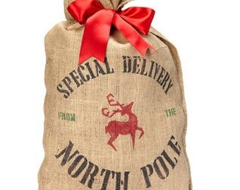 Special Delivery Burlap Christmas Sack - Reindeer