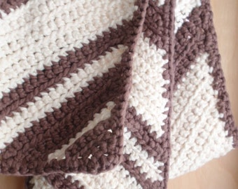 Hand Crocheted Cotton Scarf