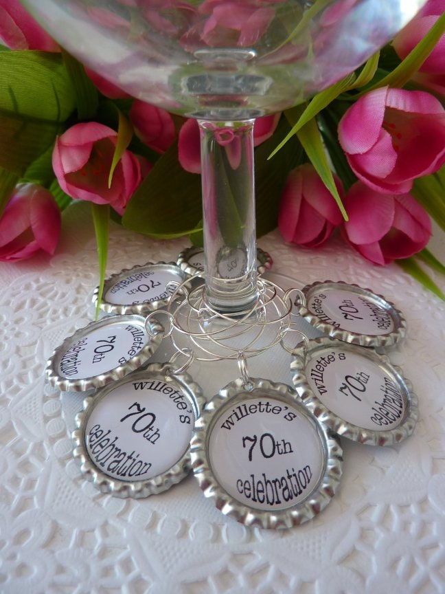 25 wine glass charms personalized wine charms birthday