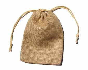 "24 Burlap Bags Medium, 5"" x  7"""