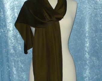 Fashion Neck Scarf - Moss Green Rayon Scarf