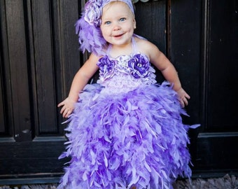 Lavender feather dress