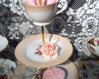 Miss Rose - 3 tier bespoke vintage cake stand - RC Noritake china