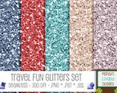 SALE - Photoshop Glitter Pattern & Styles Set - Scrapbooking Cards Invitations - Red Silver Blue Teal Cream - High Resolution - CU OK