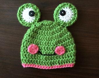 Crochet Frog Hat