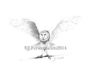 Pencil Drawing Print - Heart Flight - Week 1 Day 1