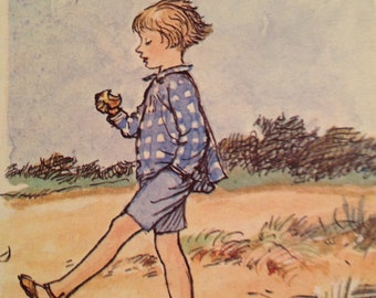 Christopher Robin Illustration from an old Winnie The Pooh Book.