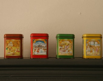 Season Themed French Kitchen Tins -25% discount - use Coupon SummerDaze