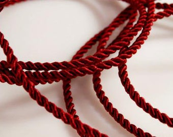5 meter cord, Dark Red, 2.8 mm (1341)