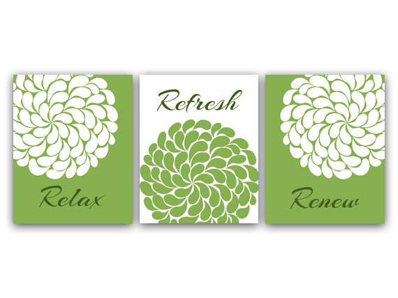 Lime Green Wall Decor relax refresh renew home decor wall art green and white wall