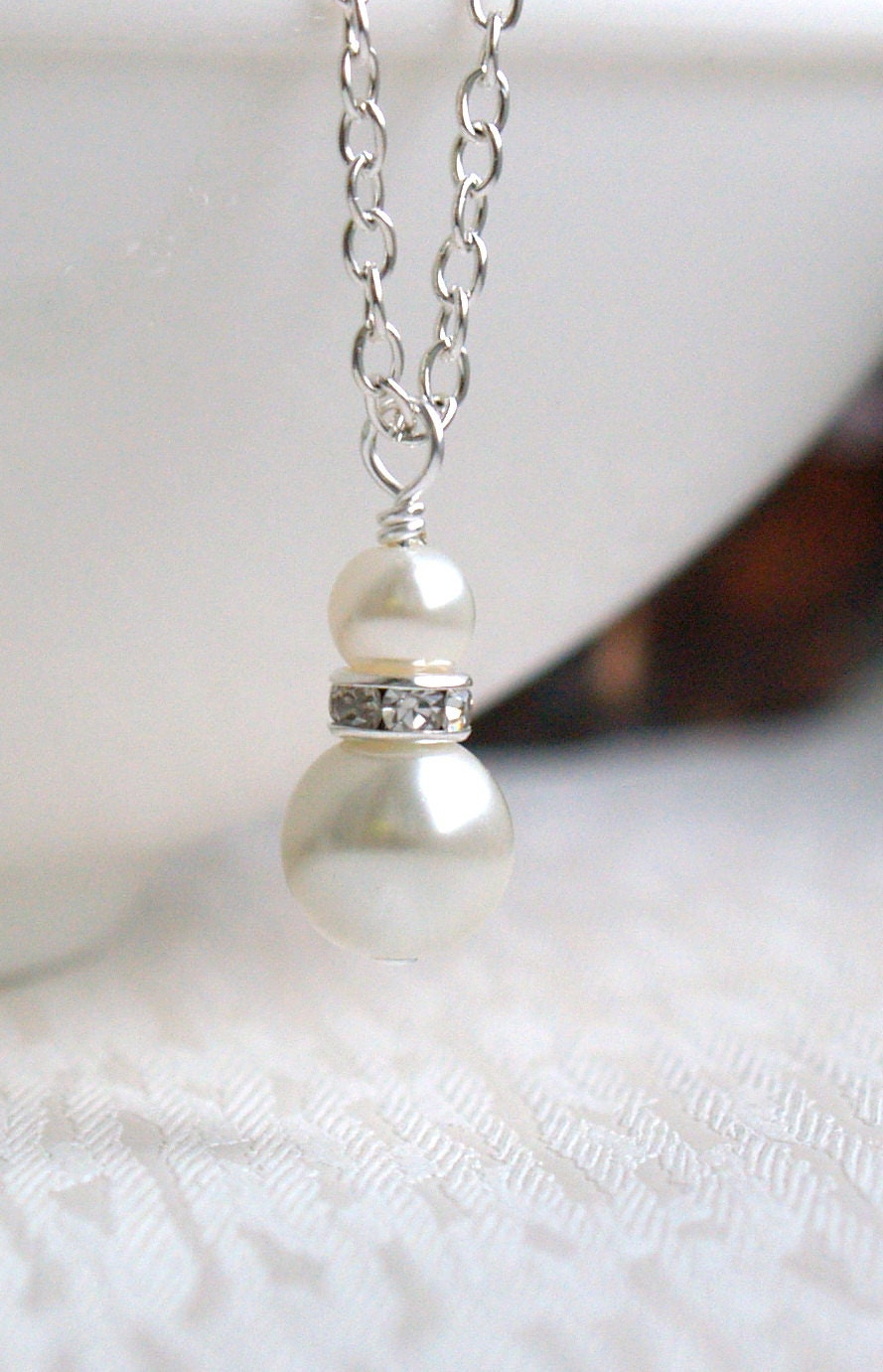 Ivory Bridesmaid Jewelry Gift Ivory Swarovski Bridesmaid