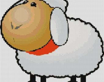 Cute Sheep Cross Stitch Pattern