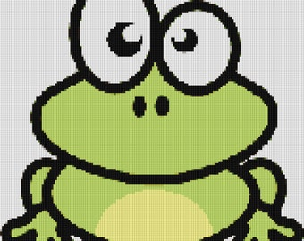 Cute Frog Cross Stitch Pattern