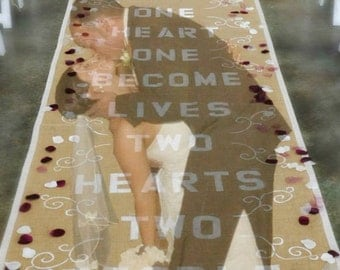 Personalized Burlap Isle Runner